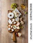cheese plate assortment of... | Shutterstock . vector #1089628088