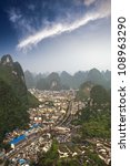 Aerial View Of The Yangshuo...
