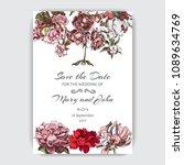 hand drawn sketch wedding... | Shutterstock .eps vector #1089634769