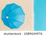 high angle view of parasol on...   Shutterstock . vector #1089634976