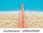 doll legs on beautiful beach...   Shutterstock . vector #1089635069