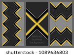 set of business flyers | Shutterstock .eps vector #1089636803
