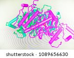 the crystal structure of the... | Shutterstock . vector #1089656630