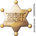 sheriff's six pointed star on a ... | Shutterstock . vector #108965996