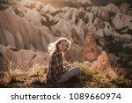 beautiful woman traveler at...   Shutterstock . vector #1089660974