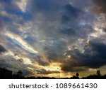 colorful sunset sky | Shutterstock . vector #1089661430