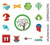 set of 13 simple editable icons ... | Shutterstock .eps vector #1089663296