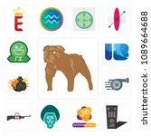 set of 13 simple editable icons ...   Shutterstock .eps vector #1089664688