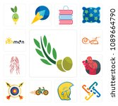 set of 13 simple editable icons ... | Shutterstock .eps vector #1089664790