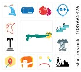 set of 13 simple editable icons ... | Shutterstock .eps vector #1089665426