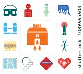 set of 13 simple editable icons ... | Shutterstock .eps vector #1089665603
