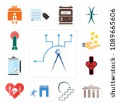 set of 13 simple editable icons ... | Shutterstock .eps vector #1089665606