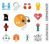 set of 13 simple editable icons ... | Shutterstock .eps vector #1089665639