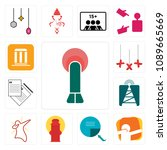 set of 13 simple editable icons ... | Shutterstock .eps vector #1089665669