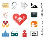 set of 13 simple editable icons ... | Shutterstock .eps vector #1089665909