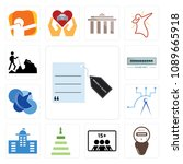 set of 13 simple editable icons ... | Shutterstock .eps vector #1089665918