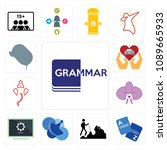 set of 13 simple editable icons ... | Shutterstock .eps vector #1089665933