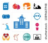 set of 13 simple editable icons ... | Shutterstock .eps vector #1089665948