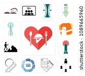 set of 13 simple editable icons ... | Shutterstock .eps vector #1089665960