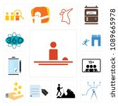 set of 13 simple editable icons ... | Shutterstock .eps vector #1089665978