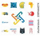 set of 13 simple editable icons ... | Shutterstock .eps vector #1089666074