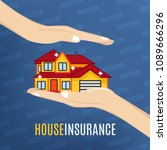 house insurance. vector... | Shutterstock .eps vector #1089666296