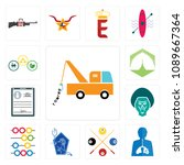 set of 13 simple editable icons ... | Shutterstock .eps vector #1089667364