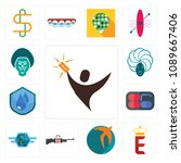 set of 13 simple editable icons ... | Shutterstock .eps vector #1089667406