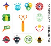 set of 13 simple editable icons ... | Shutterstock .eps vector #1089668330
