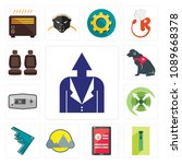 set of 13 simple editable icons ...   Shutterstock .eps vector #1089668378