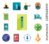 set of 13 simple editable icons ...   Shutterstock .eps vector #1089668444