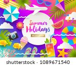 flat design vector illustration.... | Shutterstock .eps vector #1089671540
