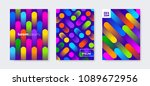 set of cover design with... | Shutterstock .eps vector #1089672956
