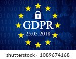general data protection... | Shutterstock .eps vector #1089674168