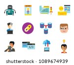 programming icon set. robot... | Shutterstock .eps vector #1089674939