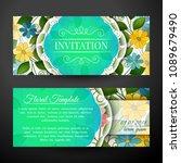 set of horizontal banners  web... | Shutterstock .eps vector #1089679490