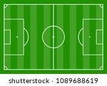 football field with green grass.... | Shutterstock .eps vector #1089688619
