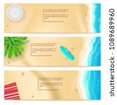 set of summer travel banners.... | Shutterstock .eps vector #1089689960