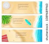 set of summer travel banners.... | Shutterstock .eps vector #1089689960
