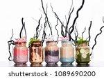 different types of summer...   Shutterstock . vector #1089690200