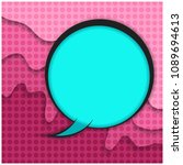 blue retro comic speech bubble...