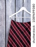 women black and red striped... | Shutterstock . vector #1089699380