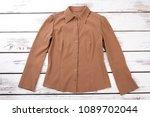 Female Brown Color Formal Shir...