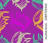 summer background seamless... | Shutterstock .eps vector #1089703403
