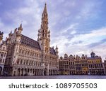 grand place early in the... | Shutterstock . vector #1089705503