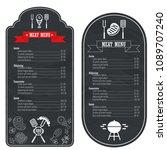 menu template on a black... | Shutterstock .eps vector #1089707240