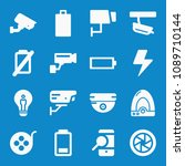 filled technology icon set such ...   Shutterstock .eps vector #1089710144