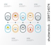 garment icons colored line set... | Shutterstock .eps vector #1089714074