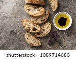 homemade italian ciabatta bread ...   Shutterstock . vector #1089714680