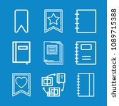 outline bookmark icon set such... | Shutterstock .eps vector #1089715388
